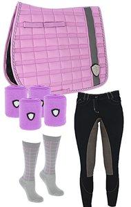 Covalliero Set Purple/Grey