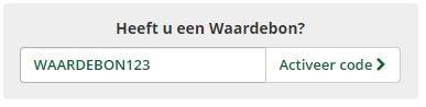 Waardebon in de Winkelwagen bij Agradi.nl