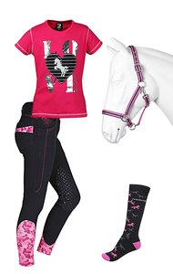 Red Horse Set Black-Pink