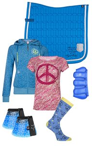 Imperial Riding Set Blue-Pink