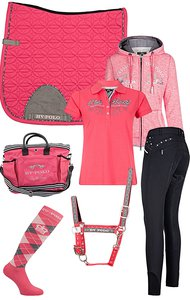 HV Polo Set Raspberry-Black SS18