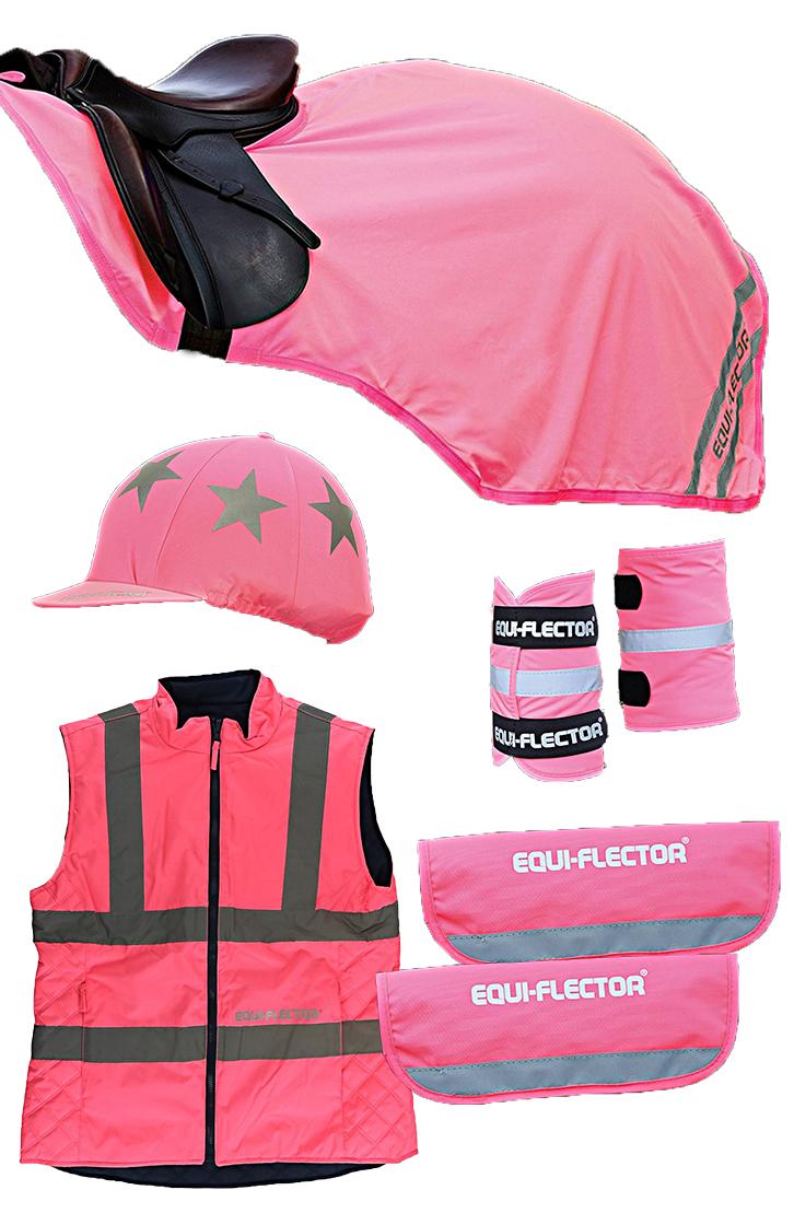 Shires Equi-Flector Reflectie Set Pink