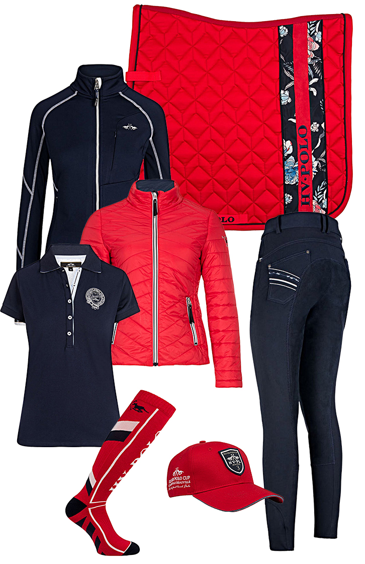 HV Polo Set Red-Navy SS18